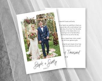 Wedding Thank You Cards Etsy Au