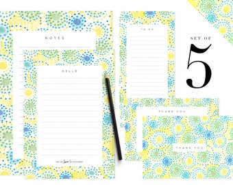 Printable Note Paper Stationery Set Letter To Do Lists | Etsy