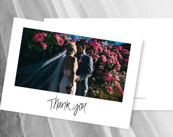 Photo Thank You Cards Wedding Card Digital Download Printable Template