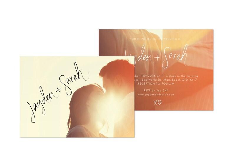 Wedding Invitation Digital Download Photo Wedding Invite Template Digital Designs