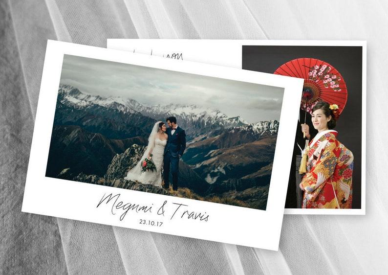 Wedding Thank You Cards Wedding Photo Thank You Card Postcard Template