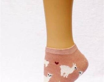Alpaca Love No Show Cotton Socks