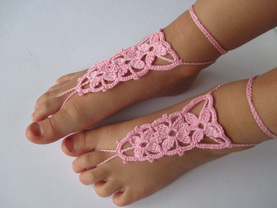 Baby barfuss Sandalen barfuß Sandalen Blumenmädchen barefoot | Etsy