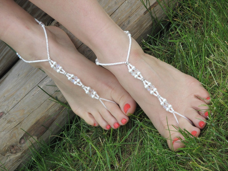 Pearl Barefoot sandals Beaded Barefoot Sandals,Barefoot sandals,Beach wedding Barefoot Sandal Bridal Barefoot Sandals Wedding shoes