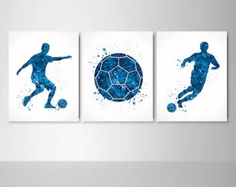 Soccer Team Gift Boys Bedroom Art Soccer Print Kids Room Sports Art Prints Gift Idea Soccer Team Poster Printable Wall Art
