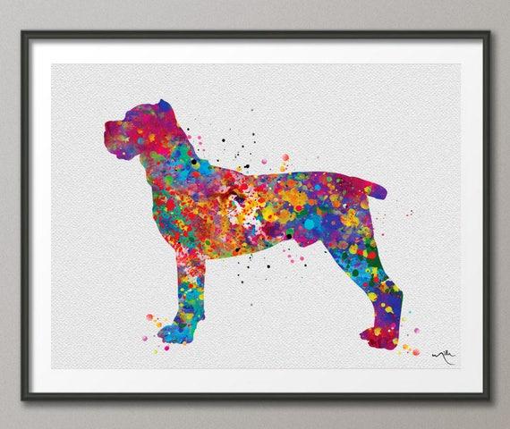Cane Corso Watercolor Print Cane Corso Art Print Poster Dog Breed Gift Pet Dog Love Puppy Friend Animal Dog Poster Custom Pet Portrait 1188
