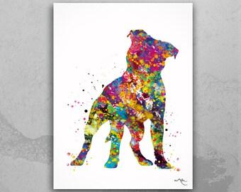 Staffordshire Bull Terrier Watercolor Dog Print Pet Gift Pet Dog Love Doglover Poster Dog Art Bull Terrier Memorial Gift Poster Dogart-1630