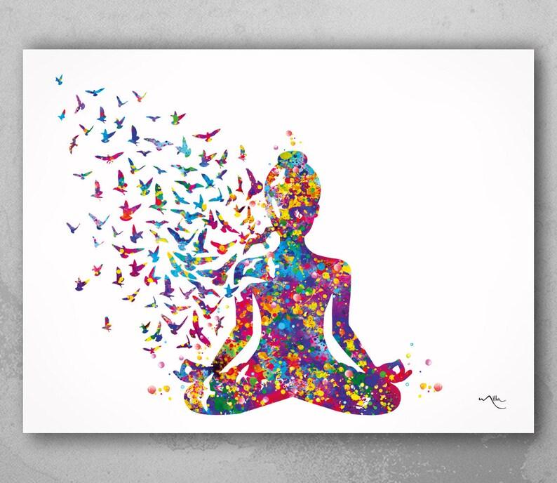 Yoga Art Yogi Yoga Poster Yoga Pose Yoga Print Yoga Woman image 0