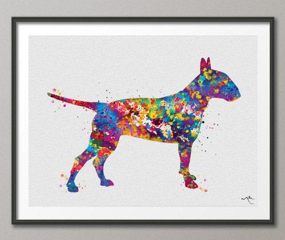 Schnauzer Watercolor Print Dog Art Print Pet Gift Dog Lover Nursery Puppy Print