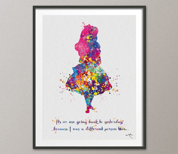A1 A2 A3 A4 A5 Vintage Art Print Poster Alice Wonderland We/'re all mad here