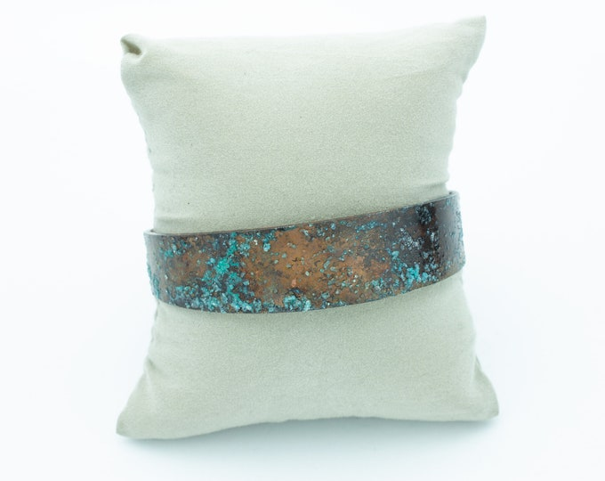 Salt Patina Copper Cuff Bracelet
