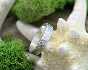 Hand Hammered Textured Sterling Silver Ring