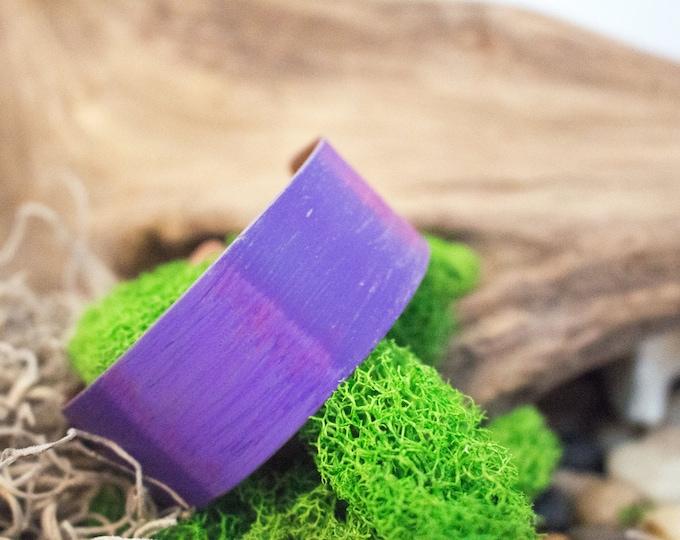 Purple Crayon Copper Handcrafted Cuff Bracelet
