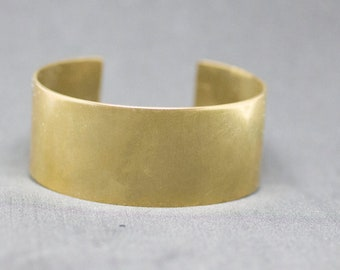 Hand Forged Textured Brass Cuff