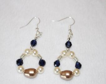 Swarovski Pearl & Crystal Drop Earrings