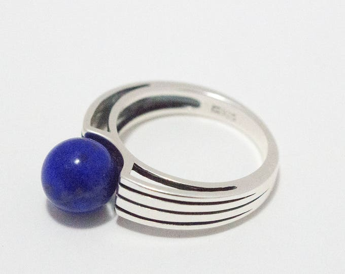 Lapis Gemstone Sterling Silver Ring