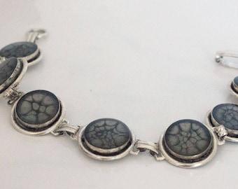 Black Prism Fantasy Paint & SilverLink Bracelet