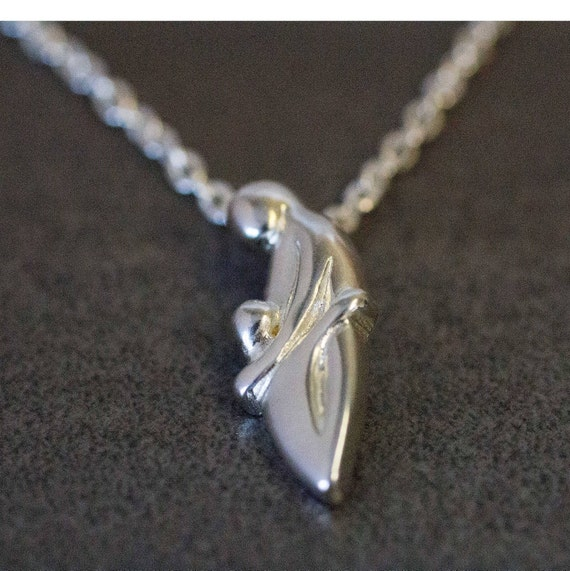 Sterling Silver Mother & Child Pendant Necklace