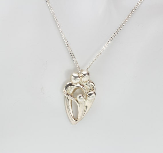 Sterling Silver Family Pendant Necklace