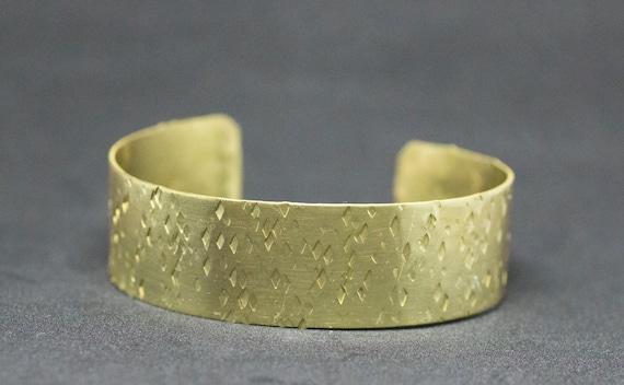 Hand Textured Brass Cuff Bracelet