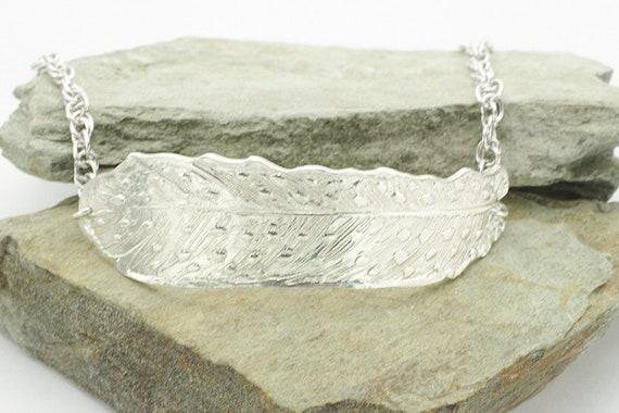 PMC Silver Feather Bracelet