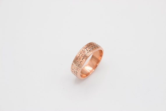 Copper Patterned Ring