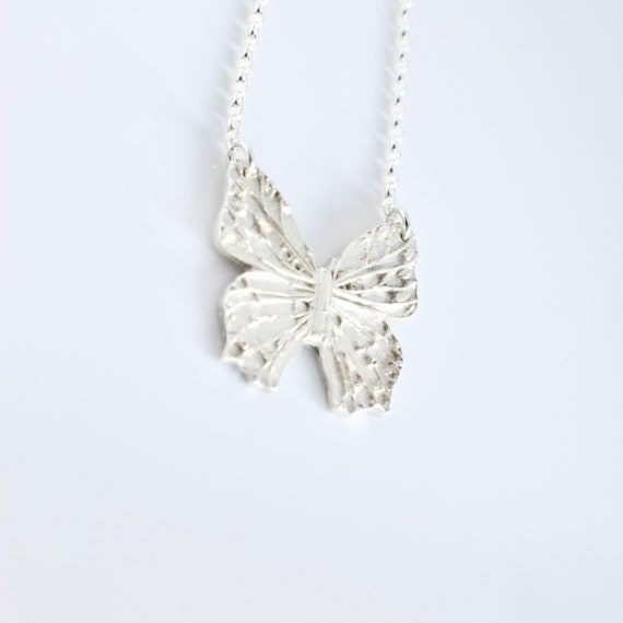 960 Sterling Silver Butterfly Pendant Necklace