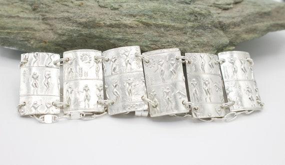 Aztec Sterling Silver Bracelete