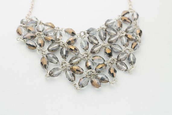 Sterling Silver Preciosa Crystal Bib Necklace