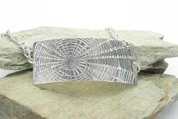 PMC Silver Web Print Chain Bracelet