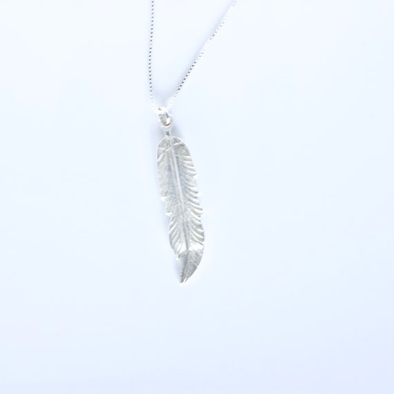 960 Sterling Silver Feather Necklace