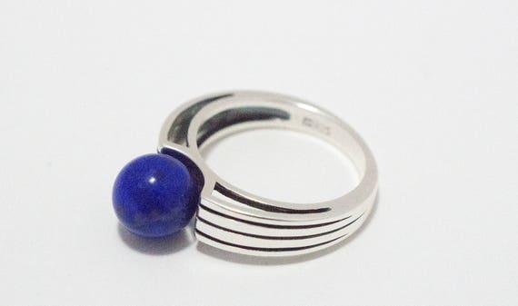 Lapis Gemstone Sterling Silver Ring