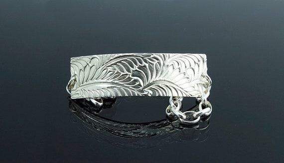 PMC Silver Fern Print Bracelet