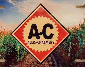 allis- chalmers metal license plate
