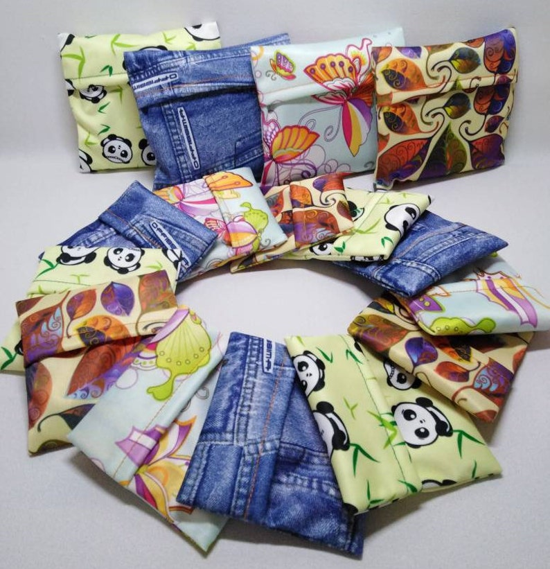 Pad wrap . A pretty and discreet way to store pads. image 0