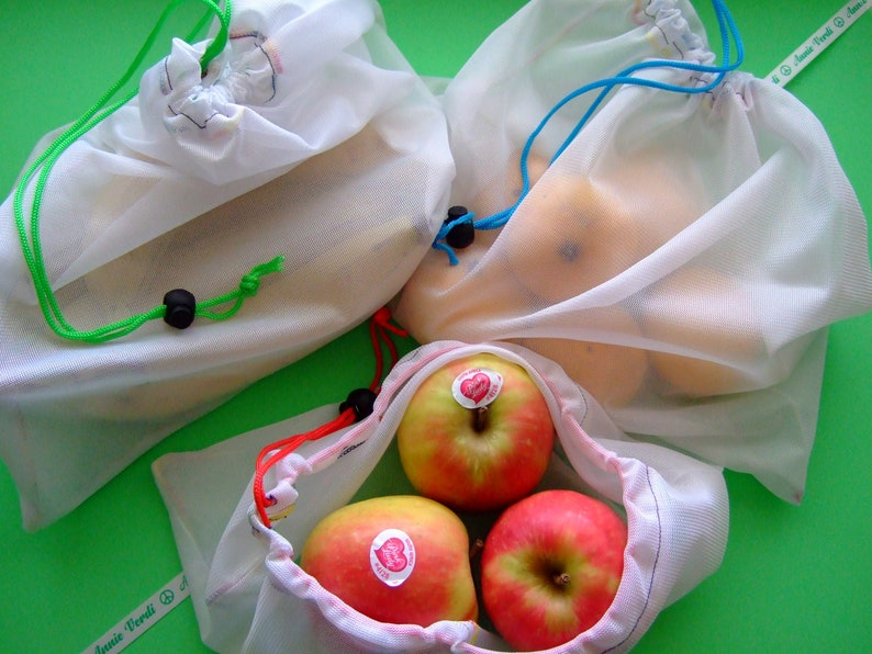 Produce bags set of 6 in three different sizes   to help image 0