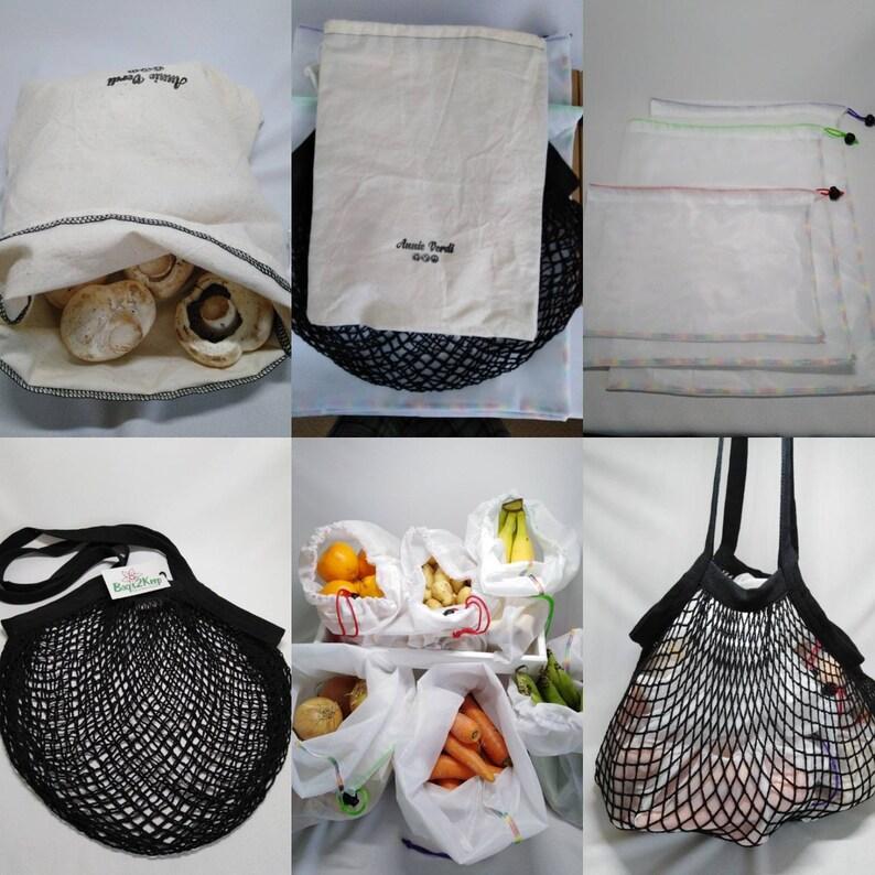 Complete zero waste shopping bag kit. image 0