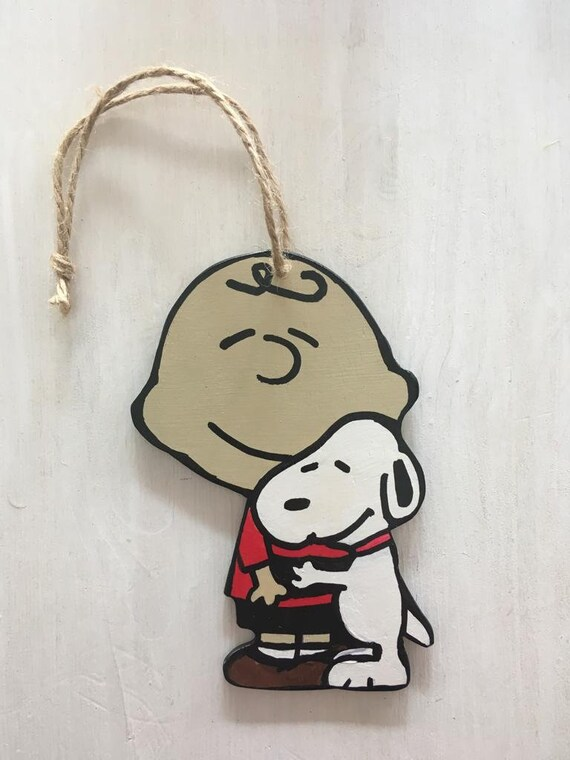 Charlie Brown And Snoopy Door Hanger Sign Handpainted Wooden Etsy