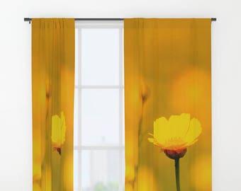 Deep Blue Sea At Sunset Curtain Window Curtains Blue Etsy