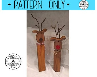 Wooden Reindeer Etsy