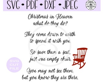 picture regarding Christmas in Heaven Poem Printable identify Heaven svg Etsy