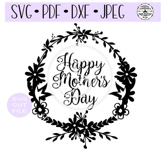 42+ Happy Mother's Day Wreath – Svg Dxf Png Pdf Jpg PNG