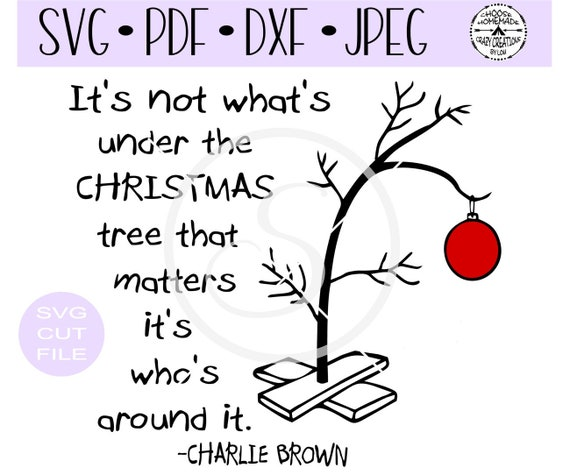 Charlie Brown Christmas Tree Image.Charlie Brown S Sad Little Christmas Tree Verse Svg Digital Cut File For Htv Vinyl Decal Diy Plotter Vinyl Cutter Svg Dxf Jpeg Formats