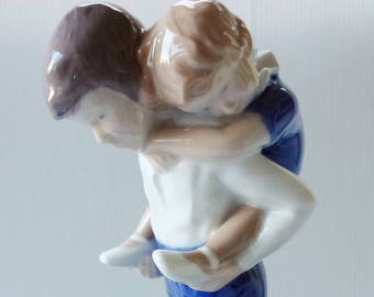 "Vintage Bing and Grondahl  (B&G) Children Figurine Series entitled ""Playfellows"" #1848 designed by Michaella Ahlmann"