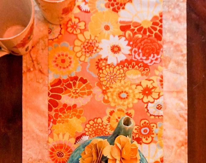 Summer Table Runner-Flower Table Runner-Boho Table Runner-Shabby Chic Table-Yellow Table Runner-Party Decor-Cottage Decor-Home Decor Gift
