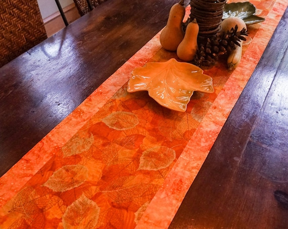 Fall Decor-Thanksgiving Table Decor-Gold Table Runner-Burnt Orange Decor-Table Linens-Centerpiece for Table-Metallic Gold-Boho Table Runner