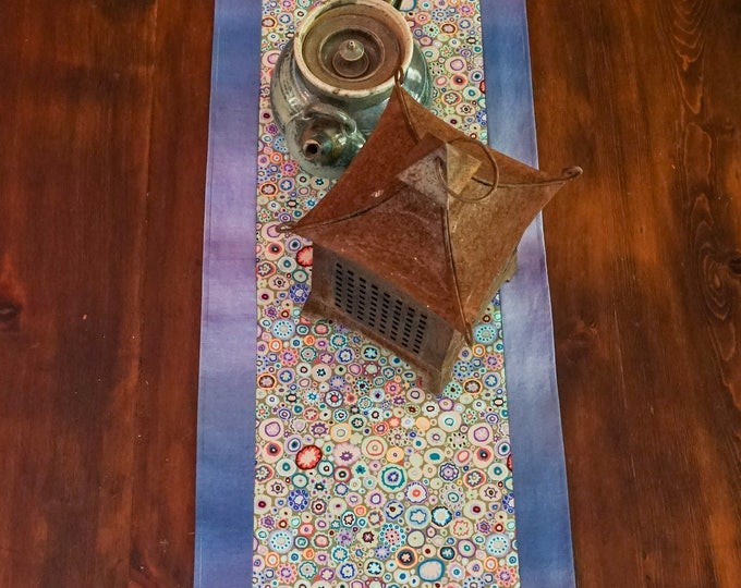 Table Runner-Tableware-Farmhouse Decor-Beach Decor-Bohemian Decor-Kitchen Decor-Home Decor Gifts-Handmade Table Runner-Watercolor Home Decor