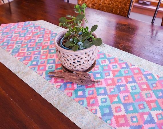 Southwestern Table Runner-Desert Decor-Pastel Decor-Tableware-Kitchen Decor-Geometric Decor-Home Decor Gift-Eco Friendly Gifts-Gifts for Mom