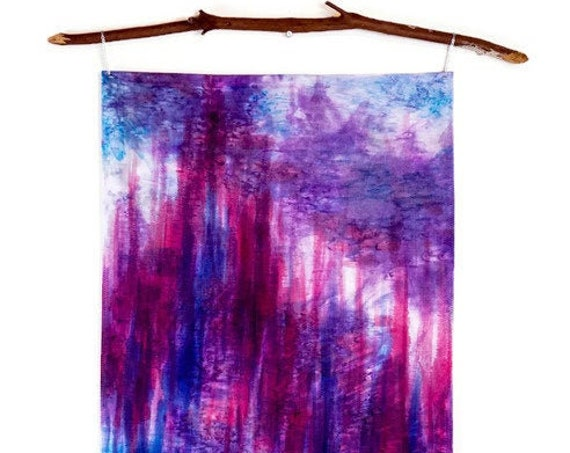 Textile Wall Hanging-Global Decor-Ikat Art-Magenta Art-Fiber Art-Bohemian Tapestry-Boho Decor-Bohemian Decor-Modern Art-Abstract Art-Gift
