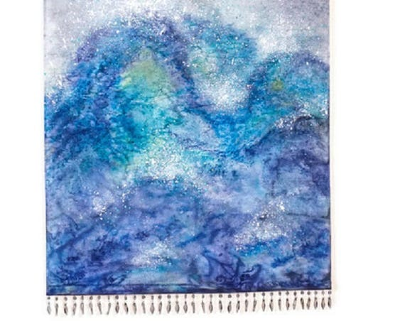 Ocean Painting-Wall Hanging Tapestry-Wave Art-Ocean Decor-Nature Tapestry-Textile Art-Fiber Art-Coastal Decor-Beach Decor-Boho Decor